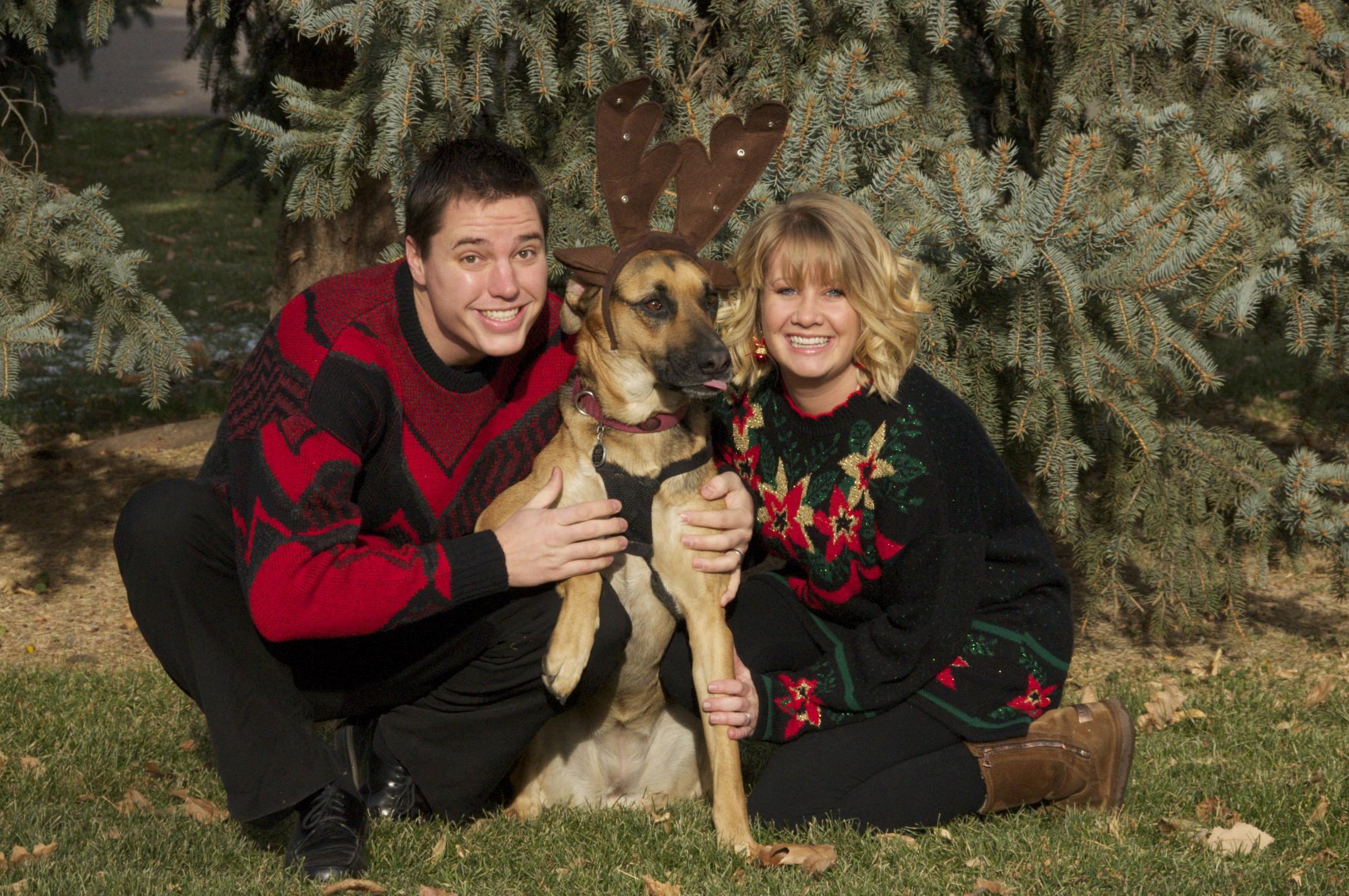 Cheesy Family Christmas Card