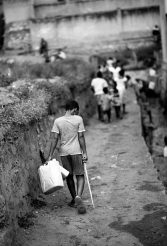 boy_fetching_water_bw
